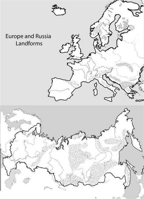 blank map europe and russia unit 4 mr geography for