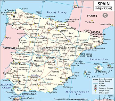 map of spain with cities spain cities map world cities maps