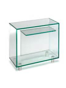 classic glass side table with shelf by glassdomain