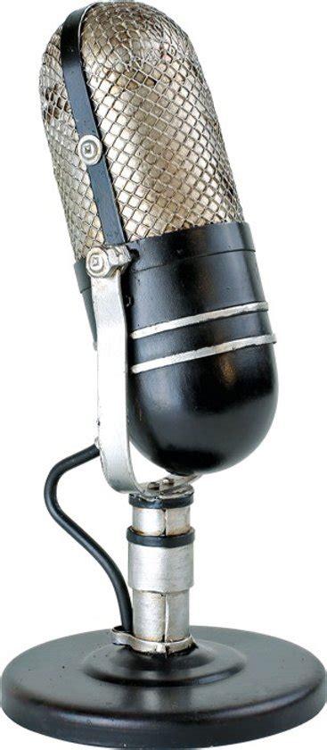 vintage decoratie bol vintage decoratie microfoon jaren 50 60