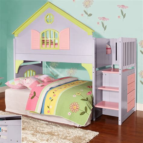 kid loft bed donco kids donco kids twin doll house loft bed with