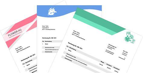 Design Konzept Schreiben Vorlage Rechnung Schreiben Einfach Und Schnell Mit Sevdesk De
