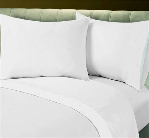 1 new white cotton rich queen size sheet set t250 percale