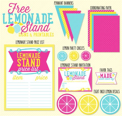 lemonade stand business plan template free lemonade stand signs printables by the day