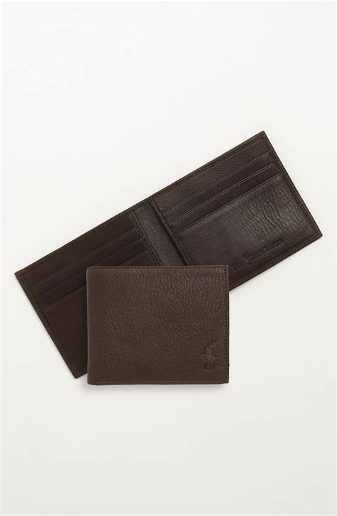 Polo Wallet For polo ralph bifold wallet in brown for lyst