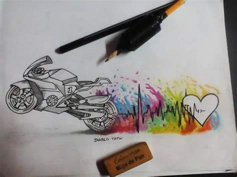 motorcycle heartbeat tattoo motorcycle hearth and watercolor idea diablo