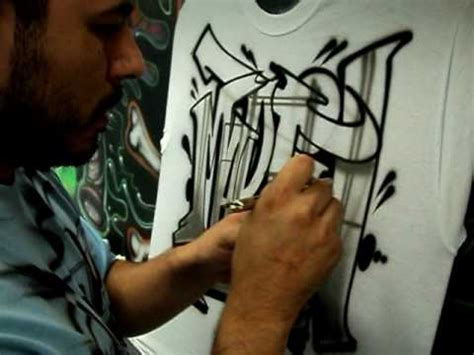 airbrushed graffiti style lettering  airbrush artist