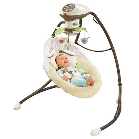 fisher price baby swing my snugabunny cradle n swing with smart swing