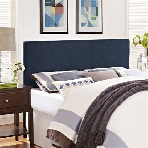 Navy Blue Headboard Modway Oliver Fabric Headboard In Navy Free Shipping Today Overstock 17725144