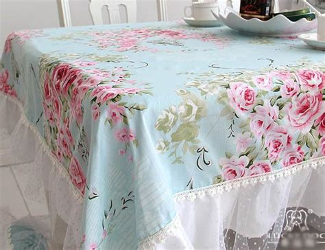 shabby french country chic floral blue table cloth 008 ebay