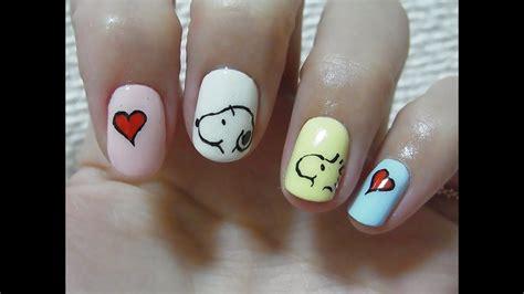 snoopy nail art youtube