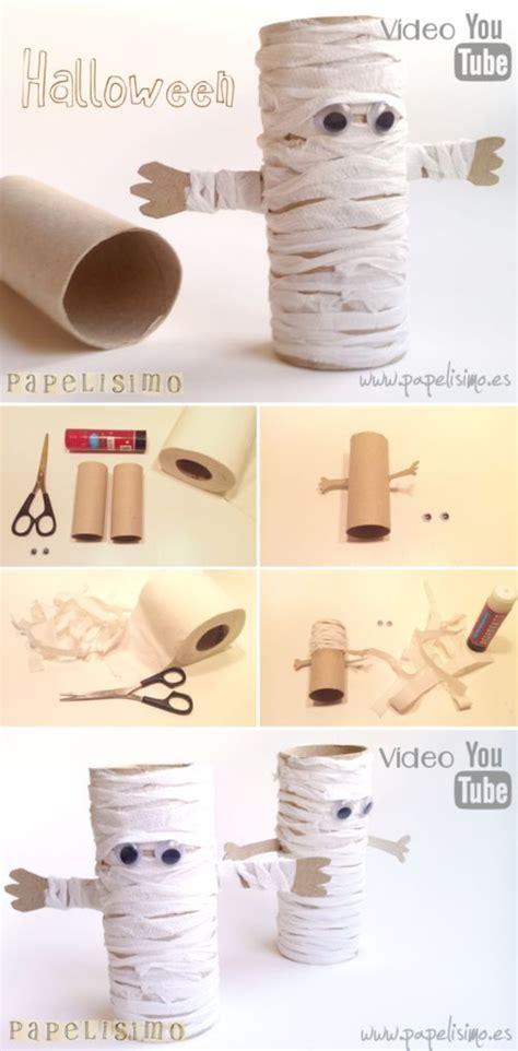 Mummy Toilet Paper Roll Craft - diy paper roll mummies