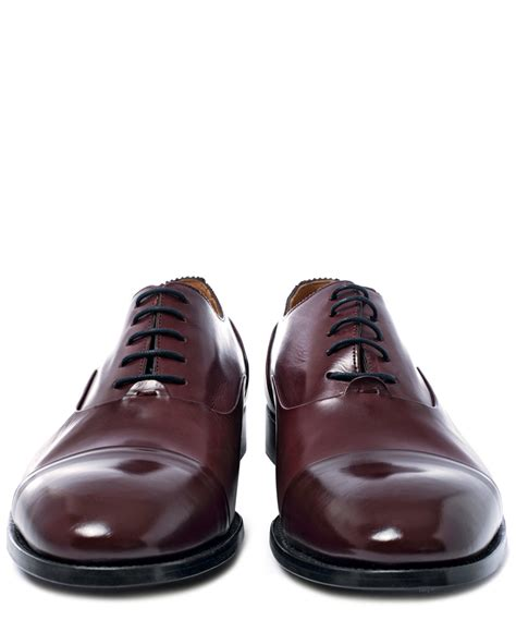 burgundy oxford shoes lyst paul smith burgundy adrian toe cap leather oxford