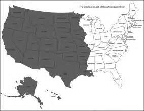 us map east of mississippi river the 26 states east of the mississippi presented by
