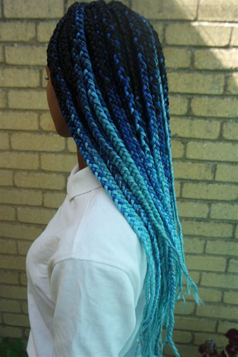pictures of blue hair braided into brown hair 30 blue ombre hair color ideas for bold trendsetters