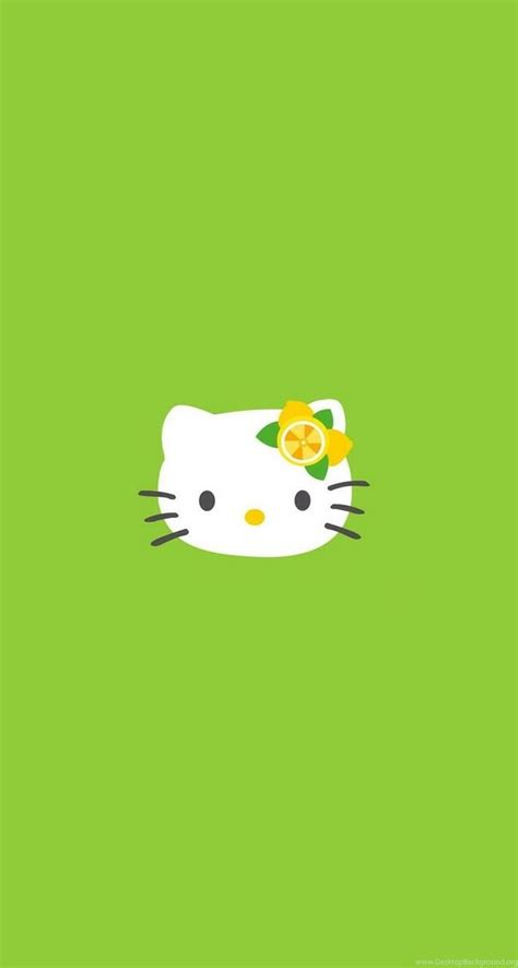 wallpaper hello kitty green hello kitty cute and green iphone wallpapers mobile9