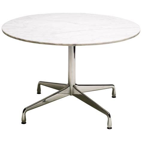charles and eames carrara marble segmented base dining