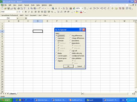 go to tools excel go to special tool auditexcel co za