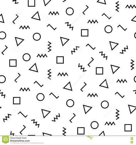 black and white minimal pattern vector modern abstract geometry memphis pattern black and