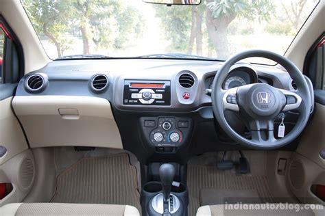 honda brio automatic interior honda brio at is it the best city commuter in india