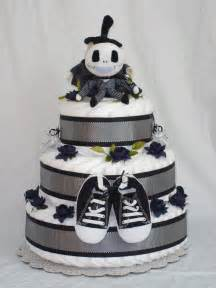 boys 3 tier jack skellington diaper cake by restlessartist on etsy