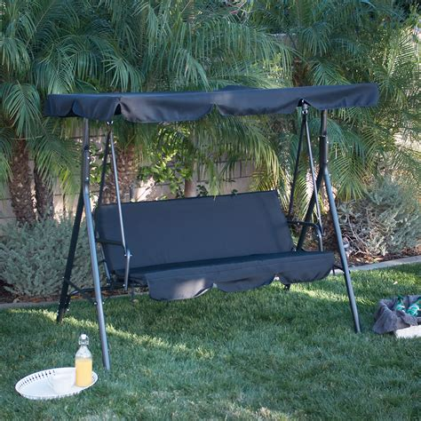 outdoor 3 person swing with canopy 3 person patio swing outdoor canopy awning yard furniture