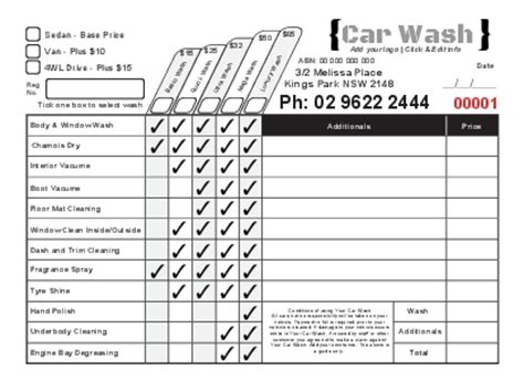 Duplicate Invoice Books Carbonless Ncr Books Car Wash Receipt Template