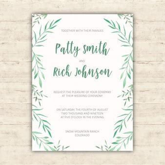 Wedding Invitation Design Freepik by Botanical Vectors Photos And Psd Files Free