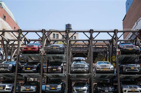 garage york multi level parking garage in new york city editorial