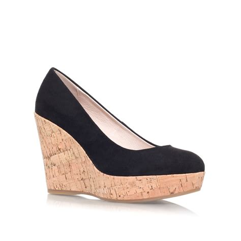 wedge shoes for carvela kurt geiger attend wedge heeled court shoes in