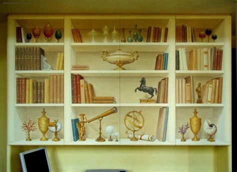 trompe l oeil libreria trompe l oeil finta libreria con antichit 224 www