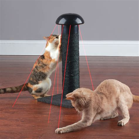 Cat Scratching by Cat Scratching Post With Built In Laser The Green