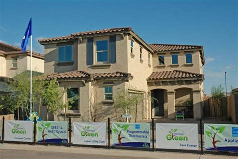 tract home inexpensive arizona tract homes take on green features