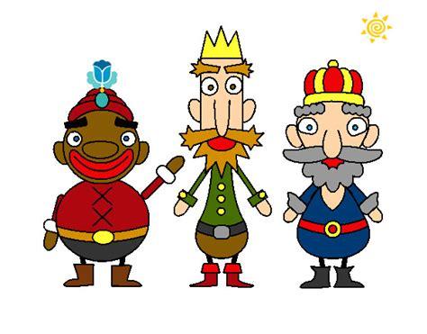 imagenes de reyes magos a color dibujo de reyes magos pintado por guillem en dibujos net