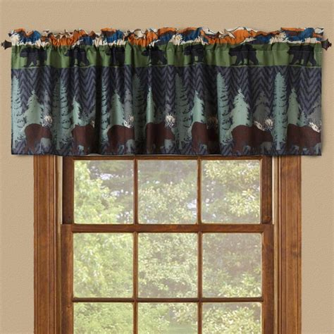 bear curtain rods moose tree curtain rod holder with rod cabin place