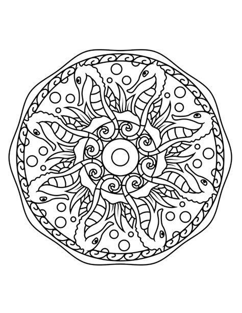 ocean mandala coloring pages adult coloring pages set of free ocean inspired printables
