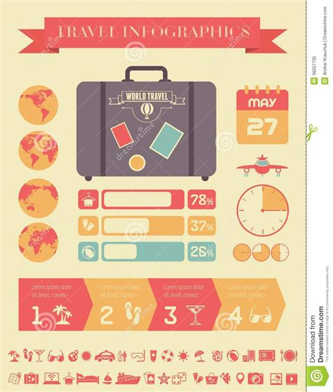 Travel Infographic Template Royalty Free Stock Photo Image 36057735 Travel Infographic Template