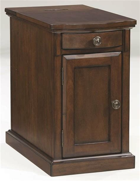 ashley furniture chair side  table power chairside  tables medium brown ebay