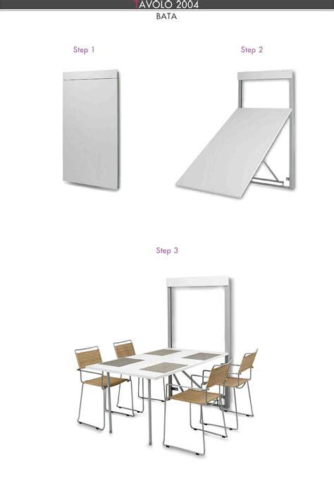 sedie a scomparsa tavolo a scomparsa modello magnolia estraibile a muro
