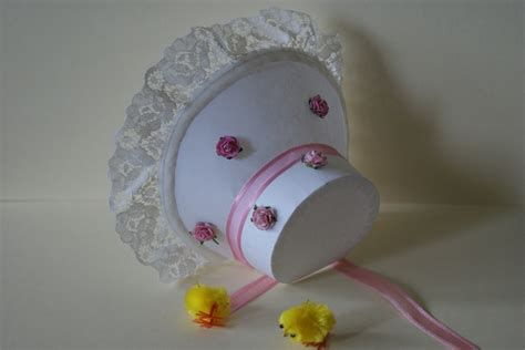 easter baby bonnet template display box