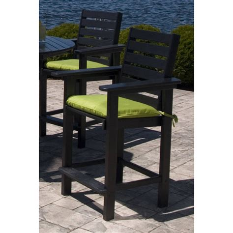 outdoor bar stools made in usa outdoor counter height arm chair polywood weatherproof