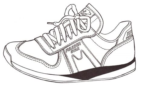 running shoe drawing how to draw track shoe