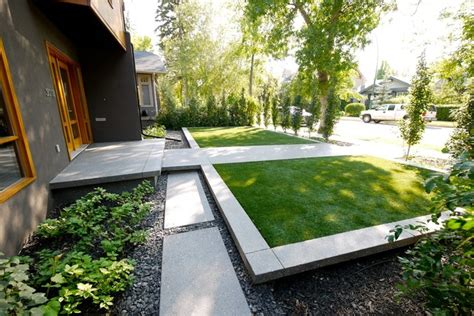 modern home landscaping roxboro house modern landscape calgary by alloy