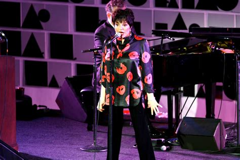 Liza Minelli Needs A New Stylist by Liza Minnelli Print Blouse Liza Minnelli Looks Stylebistro