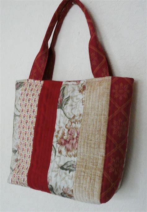 Quilted Fabric Tote Bags quilted fabric tote bag