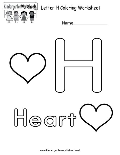printable alphabet letter h letter h worksheets kindergarten search results