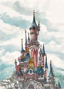 disneyland castle by aneesah on deviantart