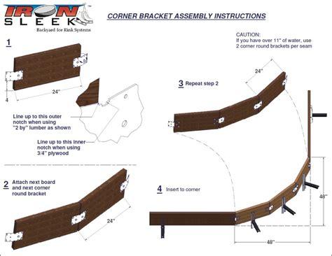backyard ice rink brackets iron sleek rink round kit 8 brackets