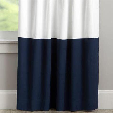 navy frame border linen drape