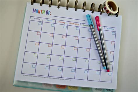 printable arc planner pages free printable calendars for your filofax household